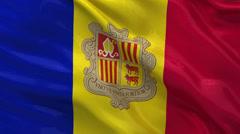 Seamless loop of the flag of Andorra Stock Footage
