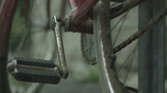Rusted Old Abandoned Bicycle Stock Footage