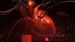 Cyber Heart Stock Footage
