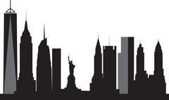 New york skyline Stock Illustration