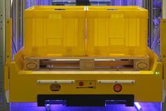 pallet shuttle vehicle - stock photo