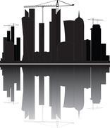 Qatar skyline Stock Illustration