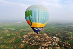 Stock Photo of hot air balloon show