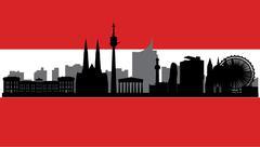 Stock Illustration of vienna skyline