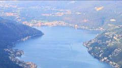 Panoramic view of Capolago / Lugano (Switzerland) Stock Footage