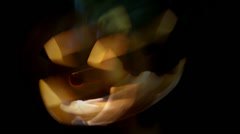 Moving Scary Pumpkin Face Motion Blur - stock footage