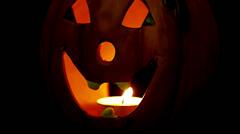 Jack-O-Lantern Closeup - stock footage