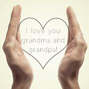 I love you grandma and grandpa Stock Photos