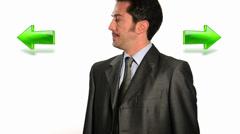 Confused businessman Stock Footage