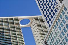 Low angle view of 500 brickell towers Stock Photos