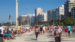 Hypertimelapse. Copacabana / Rio de Janeiro Stock Footage