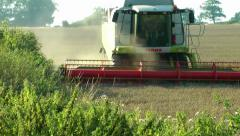 Farming Corn Harvester - Agriculture Stock Footage