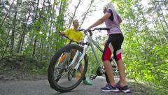 Talkative riders Stock Footage