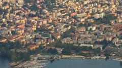 Panoramic view of Lugano (Switzerland) Stock Footage