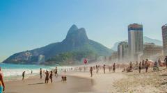 Hypertimelapse. Leblon / RIo de Janeiro. Stock Footage