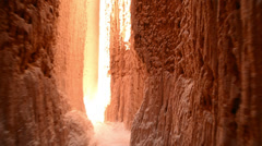 Cathedral Gorge POV 08 Cathedral Caves Nevada Stock Footage