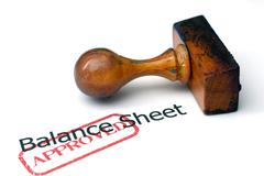 balance sheet - approved - stock photo