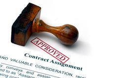 Contract assignment Stock Photos