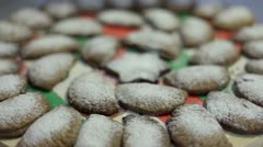Delicious cookies powdered with vanilla sugar Stock Footage