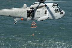 Navy rescue chopper Stock Photos
