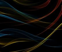 Black smooth abstract background. Stock Illustration