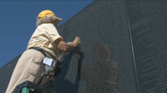 Vietnam War Memorial Stock Footage
