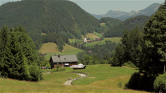 Characteristic view of bavarian scenery Stock Footage