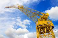 Yellow Crane and Sky Stock Photos