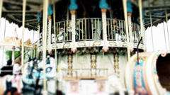 Carousel Fun in France  Stock Footage