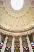 Decoration for first presidential inauguration at Federal Hall Stock Photos