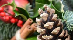 Christmas wreath, England, UK, English Christmas Stock Footage
