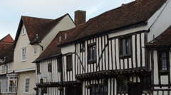 Tudor village Stock Footage