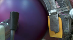 Bowling Ball Factory- Sanding Stock Footage