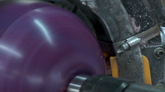 Bowling Ball Factory- Sanding - stock footage