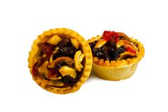 Small fruit tarts - stock photo