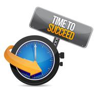 Stock Illustration of time to succeed illustration design