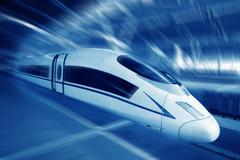 High speed train.. Stock Photos