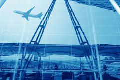 guangzhou airport - stock photo