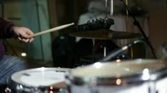 Musican playing drums Stock Footage
