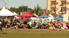 Summer community event Stock Footage