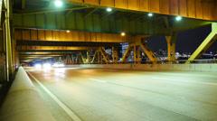 Fort Pitt Bridge Traffic Timelapse Stock Footage