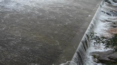 Torrential waterfall & spindrift running to dam. Stock Footage