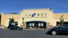 LaZ Boy Furniture storefront - stock footage