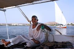 felucca sailboat - stock photo