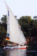 Felucca sailboat Stock Photos