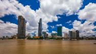 Stock Video Footage of 1080 - CITY SKYLINE - Ho CHi Minh City, VIETNAM Timelapse