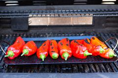Roasting the chillies Stock Photos