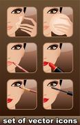 Makeup icons Stock Illustration