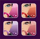 Stock Illustration of makeup icons