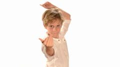Dancing child Stock Footage